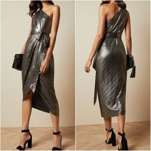 NWT-Ted Baker Draped One Shoulder Gabria Dress